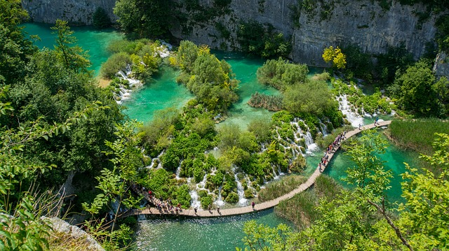 chorvatsko – plitvická jezera